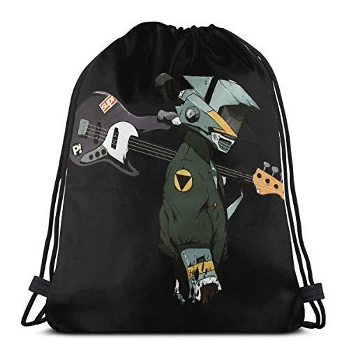 Flcl Naota Guitar Drawstring Bag Sport Gym Backpack Storage Goodie Cinch Bags