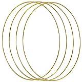 DEDC 4 Piezas Anillos de Metal Dorado para Atrapasueños Atrapador de Sueños Artesanías Bricolaje Manualidades Diámetro 30cm