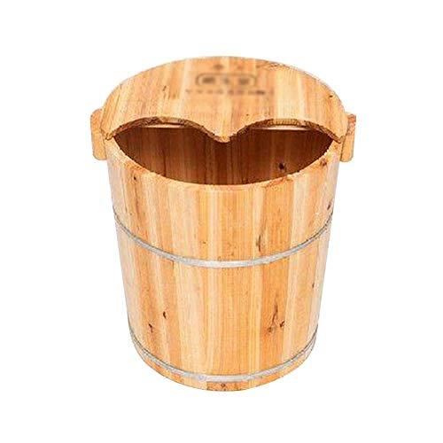 HEWEI - Baño de pies con tapa para baño de pies grueso natural sobre la pantorrilla, baño de pies, calentador, baño de vapor, portátil, baño de pies, spa, pie para la salud B.