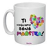 Tazza 8 x 10 cm Ceramica Scritta Ti Vogliamo Bene maestra Scuola Insegnante Alunni
