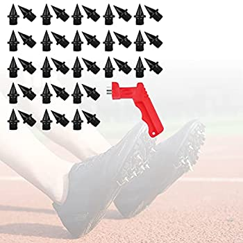 42 Pcs Track Spikes for Shoes Steel Track Spikes 1/4 In for Track Cleats Triple High Jump Track Spikes for Men Women for Adidas Golf Kicks Running Spikes Kit Replacement for Field Competition