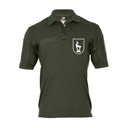 Copytec Copytec Tactical Poloshirt Alfa - Horrido die Gams Gebirgsjäger Steinbock Jäger #19311, Größe:S, Farbe:Oliv