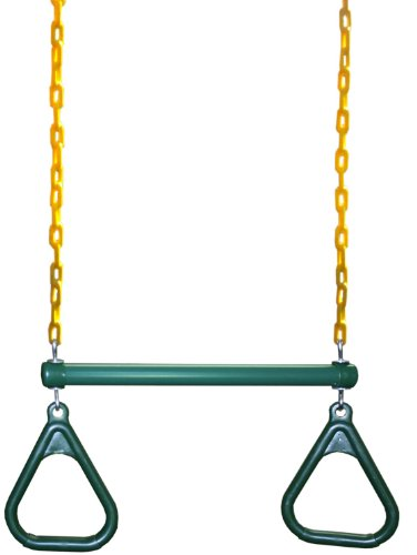 Eastern Jungle Gym Heavy-Duty Ring Trapeze Bar Combo Swing ,Large 20' Trapeze Bar with Coated Swing Chains 43' Long