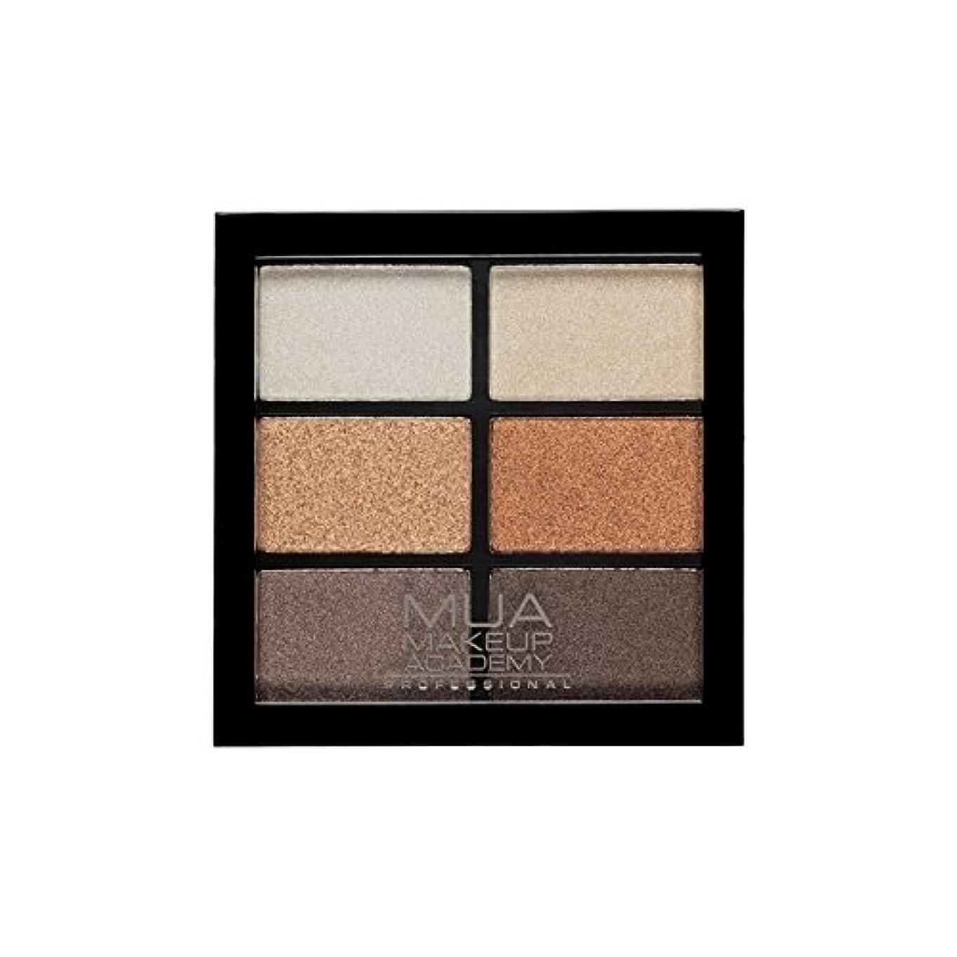 朝別々に深くMUA Professional 6 Shade Palette Glamour Golds (Pack of 6) - プロ6日陰パレットグラマー金メダル x6 [並行輸入品]