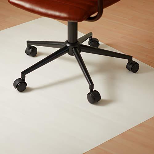 Relaxdays Bürostuhlunterlage 90x120 cm, kratzfeste PE Bodenschutzmatte, schalldämmende Unterlegmatte f. Büro, weiß