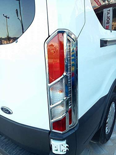 Boa Line Auto - Abs Chrome Cubierta de llanta para lámpara trasera...