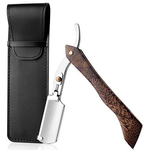 GRUTTI Rasiermesser mit Holzgriff mit handgefertigtem hochwertiges Old School Nassrasierer