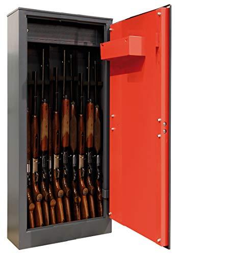 ARREGUI Domus ARM100335 Armoire à Fusils avec Coffret Interne, 10 fusils, Serrure à clé Gris Foncé