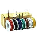 20AWG 0.5mm² PVC Elettrico Filo 7 colori kit Cavo Elettrico Solido Rame stagnato ad alta purezza senza ossigeno DIY