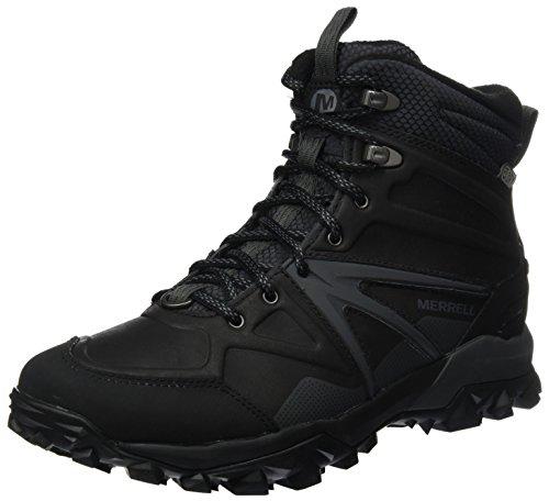 Merrell Capra Glacial Ice+ Mid Waterproof, Chaussures de Randonnée Hautes homme - Noir (Black), 44 EU (9.5 UK)