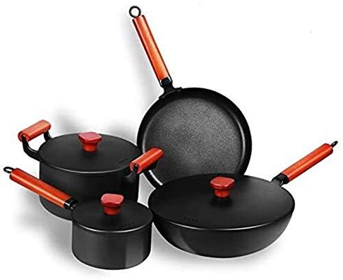 MUBAY Batería de Cocina Utensilios Set de Utensilios de Cocina Sopa de Sopa Pan de friba Cocina Pote Sistema Cocina Inducción Casserole Milk Pot Sacamarapado Camping