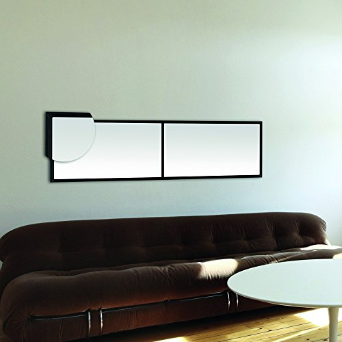 Miroir fenêtre rectangulaire en métal noir vertical 45x160cm DESIGN