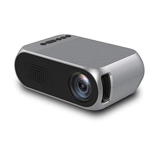 Draagbare projector, draagbare miniprojector, ondersteuning voor 1080P en 138 '' scherm met lampduur van 30.000 uur, compatibel met PS4, pc via HDMI, VGA, TF, AV en USB zwart (zwart)