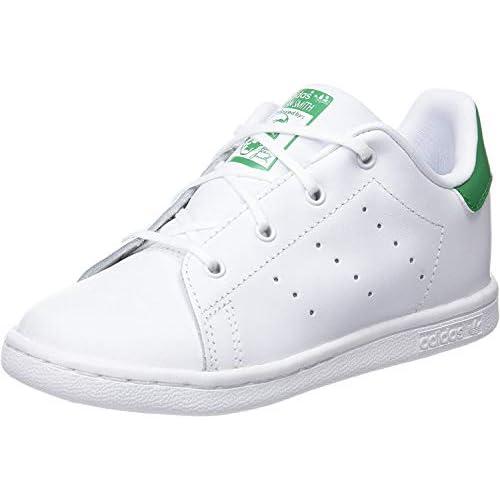adidas Stan Smith, Scarpe da Fitness Unisex-Bambini, Bianco (Ftwbla/Verde 000), 24 EU