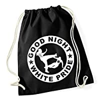 Gymsac GOOD NIGHT WHITE PRIDE (klass. Motiv) Cotton Turnbeutel