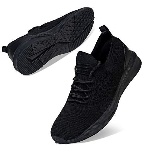 Kyopp Damen Turnschuhe Atmungsaktiv Leichte Laufschuhe Sportschuhe Sneaker für Fitness Gym Outdoor Walkingschuhe Freizeitschuhe(1 Schwarz 38EU)