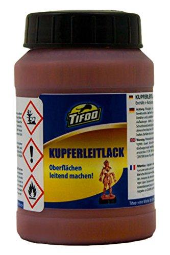 Leitlack Kupfer/Kupferleitlack (200 ml) - Silberleitlack-Ersatz – z. B. für Kunststoff-Galvanik