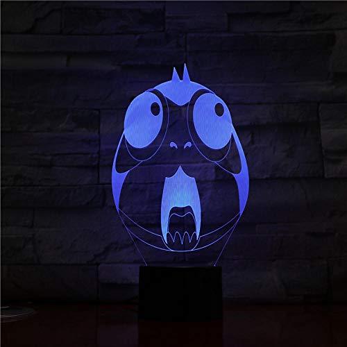 Xiaolaji 3D Iluminación Wolf Led Wolf 7 Lámpara De Mesa Visual Con Cambio De Color Para El Dormitorio Decoración Del Hogar Regalos Ligeros Para La Decoración Del Hogar Infantil