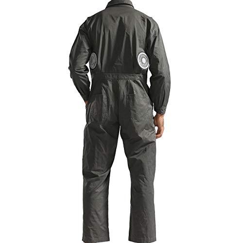 APENCHREN Kühlgebläse Jacke/Klimaanlage Kleidung, Arbeitskleidung mit - für Hochtemperatur Outdoor Arbeiten Sommer Angeln Reisen Camping und Fahrrad,Green-M