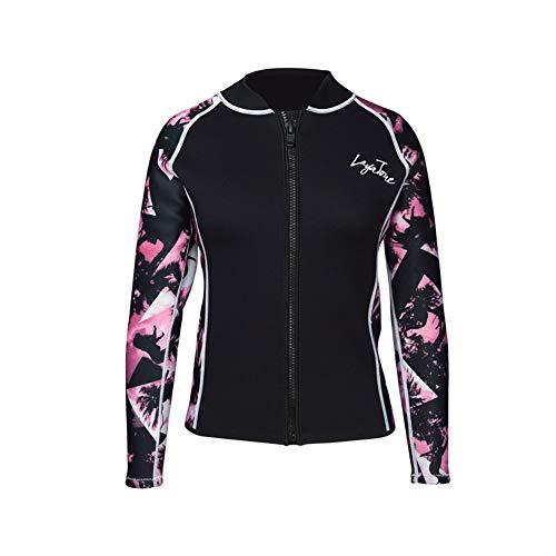 HOMELECT - Camiseta de neopreno de 3 mm, ideal para natación, buceo, surf, buceo, esnórquel, rosa, XL