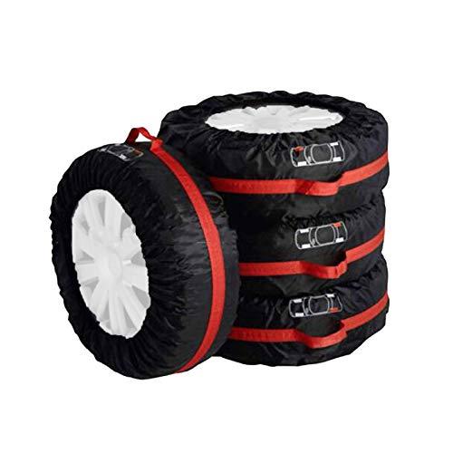 IJNBHU Funda Universal de Repuesto, Cubierta Protectora para Neumáticos recambios, Impermeable, para Remolques, Casas Rodantes, SUV y Otros, Negra (17'-26')