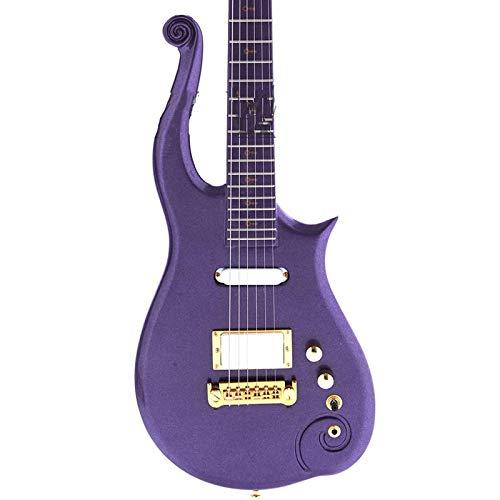 KEPOHK Guitarra eléctrica Color morado Cuerpo sólido 38 pulgadas Guitarra