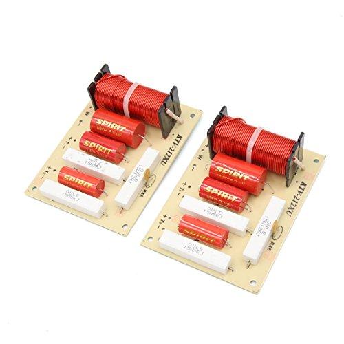 sourcingmap 2pcs 250W 3500Hz 2 voie audio pour auto haut-parleur et filtre répartiteur fréquences