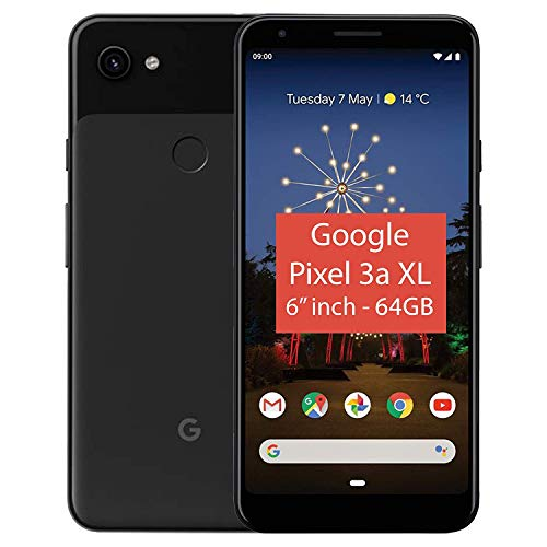 Google Pixel 3A XL 64GB Smartphone Android 9.0 (3A XL, Just Black)