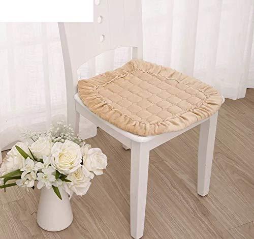 HEWEI zitkussen van pluche, bekleding voor bureaustoel, eettafel en stoelen, voor studenten, voor herfst en winter, 45 x 45 cm (18 x 18 inch) 45x45cm(18x18inch) D