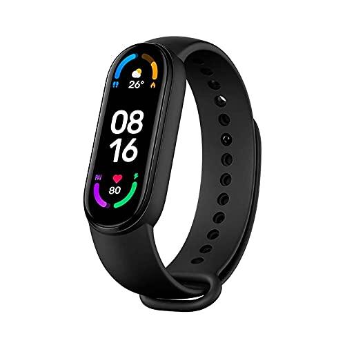 Xiaomi Mi Band 6 Fitness Tracker 1.56' Color AMOLED Display Pulsera Inteligente 50M Rastreador de Actividad Resistente al Agua 30 Modos de Fitness Smartwatch Pulsera
