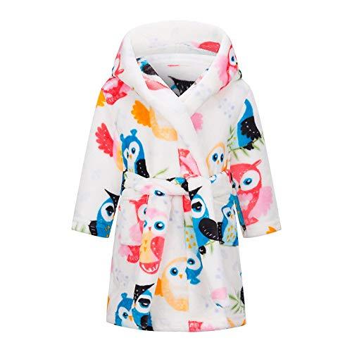 LEYUANA Kinder Bademantel Flanell Nachtwäsche, Baby Jungen Roben für Mädchen Kleidung Winter Warm Home Wear Kinder Roben Kleidung Nachtwäsche 5 G.