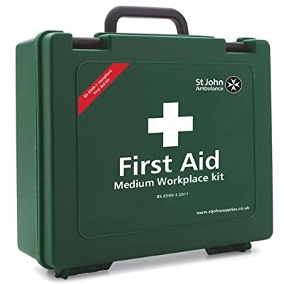 St John Ambulance Medium Workplace First Aid Kit Health And Safety At Work by Manchester Stationery