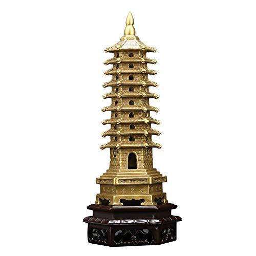 Chiny Wenchang Tower Statue Model Decoration, Feng Shui Pure Copper Crafts Statue Pamiątkowa Dekoracja, Dekoracja Wnętrz Metalowe Rękodzieło Ochrona Biznes Rośnie Wystrój Biurka, 22Cm