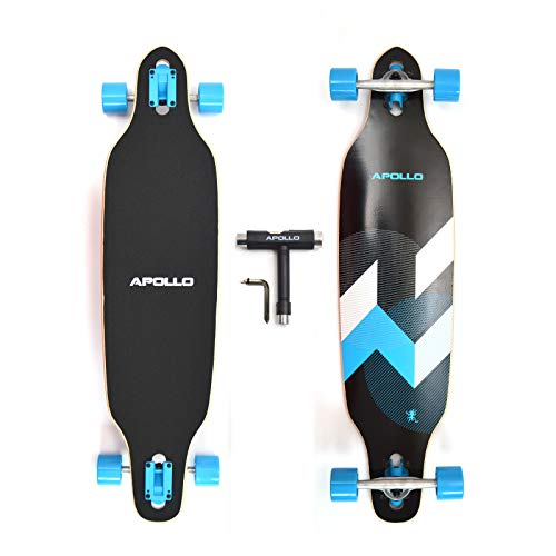 """APOLLO 38"""" Longboard for Professionals and Beginners; Long Board for Kids, Teens and Adults; Freeride Skateboard Cruiser and Downhill Longboards - 7 Layers Maple Wood - Matei"""