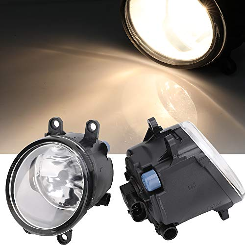 Left & Right Fog Light Assembly Compatible with Toyota Avalon Camry Corolla Highlander Matrix Prius RAV4 Solara Venza Yaris, Lexus GS350 HS250h LX570 RX350 RX450h 2006-2013 with H11 12V 55W Bulbs