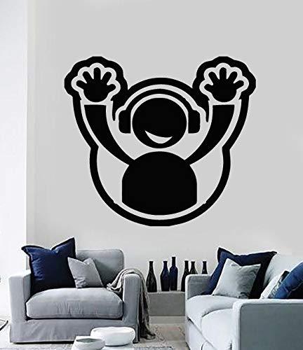 Tianpengyuanshuai muursticker vinyl applicatie hoofdtelefoon club party decoratie woonkamer slaapkamer beweegbare sticker