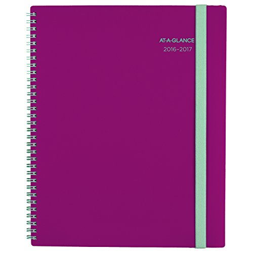 """AT-A-GLANCE Academic Year Weekly/Monthly Planner/Appointment Book, July 2016 - June 2017, 8-1/2""""x11"""", Color Selected for You May Vary (895-905A)"""