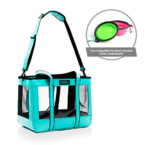 EdenPetz Airline-Approved Pet Carrier Bag for Small Dogs, Cats, Puppies, Kittens,Designed for Travel, Hiking, Walking & Outdoor Use,Free Collapsible Pet Bowl Included(Light Green)