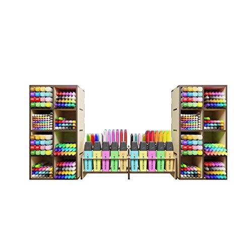 INTEGRA - Organizador para Plumones para el hogar / tamaño grande / escritorio / oficina / Studygram / cajonera / gabinete / Alto:30cm Largo:64cm Ancho:16cm (Armado) (no incluye plumones ni accesorios) (Modelo: ART8803)