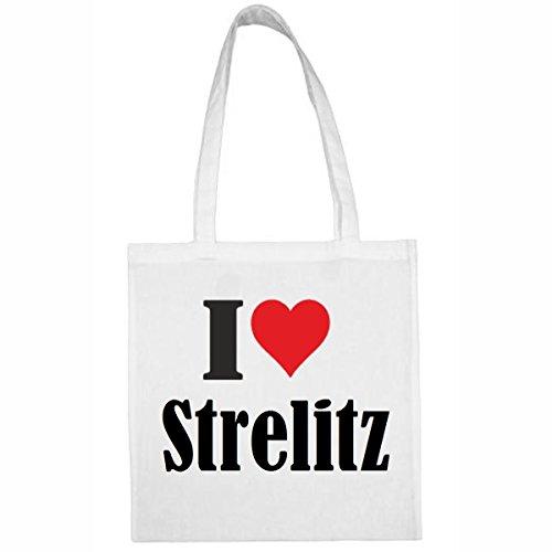 Tasche I Love Strelitz Größe 38x42...