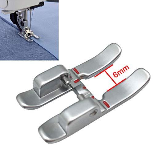 CKPSMS Marca – 1 prensatelas de punta abierta de 6 mm con IDT para máquinas de coser Pfaff (punta abierta de 6 mm, punta abierta, pie de apliques de metal)