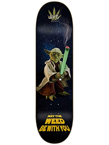 Jart Skateboard Deck Weed Nation Yoda 8.375