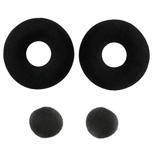 Shiwaki Almohadillas de Esponja de Recambio Cómodo Compatible con AKG K121 K121S K141 K142 MK II HD, Negro