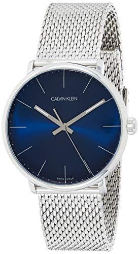 Calvin Klein Unisex Erwachsene Analog-Digital Quarz Uhr mit Edelstahl Armband K8M2112N
