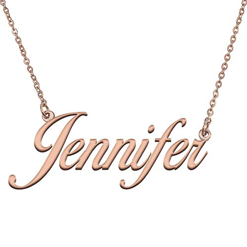 GR35Z9 Custom Letter Name Necklace Dainty Pendant Jewelry in Gold Silver Jennifer
