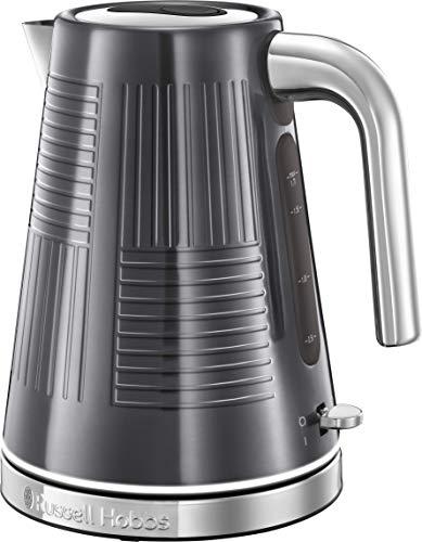 Russell Hobbs 25240-70/RH - Hervidor de agua (eléctrico, 1.7 litros, acero inox, 2400 W) color gris metálico