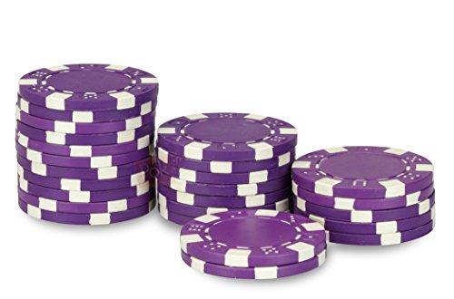 Rotoli di 25 fiches de poker : Dice Porpora