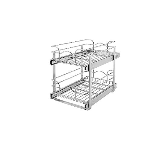 Rev-A-Shelf 5WB2-2122-CR 2-Tier 21-Inch Wire Basket Pull Out Cabinet Organizer,...