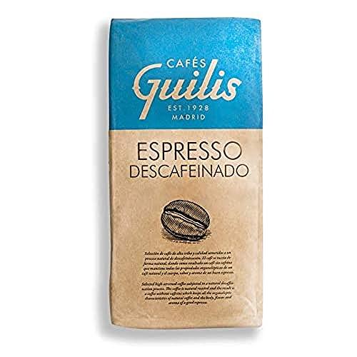 CAFES GUILIS DESDE 1928 AMANTES DEL CAFE Café en Grano Descafeinado Arábica Tueste Natural Sabor Aroma Espresso 1 Kg