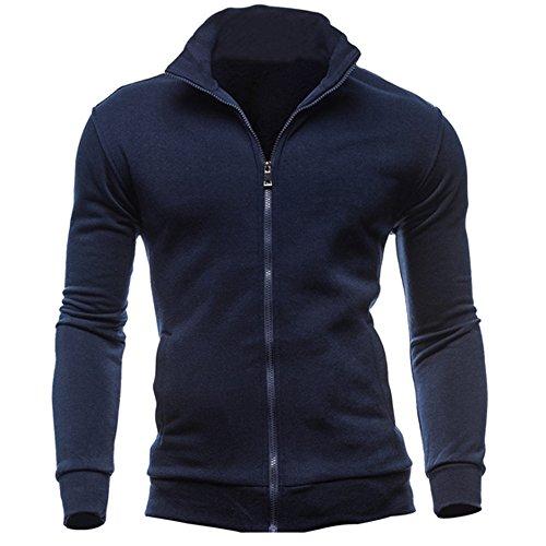 IMJONO Jacket,2019 Neujahrs Karnevalsaktion Herrenkleidung Men es Autumn Winter Leisure Sports Cardigan Zipper Sweatshirts Tops Jacket Coat(Medium,Marine)